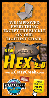 Crazy light! Hexalite - compact & easy to carry - Crazy Creek Chairs