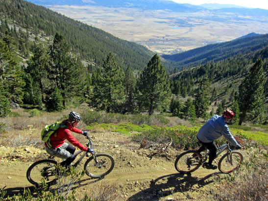 Looking for a new Tahoe trail to ride this summer? The Sierra Canyon Trail is a new 9-mile connector trail from Gonoa, NV to the Tahoe Rim Trail that was completed in late 2011 thanks to the tireless efforts of the Carson Valley Trail Association.