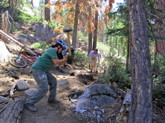 Dedicated To The Dirty Work New Mountain Bike Trail Groups In Tahoe
