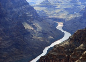 "The Colorado River, which irrigates nearly four million acres of farmland, earned the #1 spot this year on American Rivers' ""America's Most Endangered Rivers"" list. Here it is cutting through the Grand Canyon, but the river is so over-tapped that it now dries to a trickle before it reaches the sea. Photo: iStockPhoto"