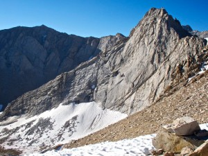 East Ridge of Mt. Carl Heller as seen from the top of Vacation Pass. Photo: Adam Long