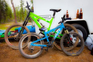 Bikes and beers at an MTBR Gathering.