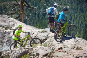 Miles Mendenhall, Greg Williams and Max Whittenberg check out the Pauley Creek Trail.