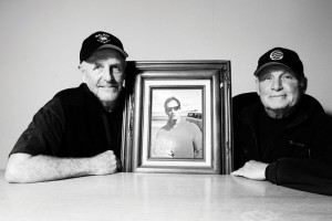 The founders of NHS, Richard Novak, Jay Shuirman (in framed photo), and Doug Haut, 2012
