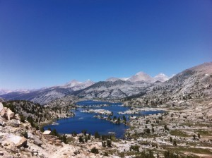 High Sierra lakes.