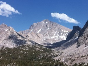 View of the high Sierra from the trail.