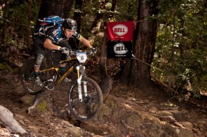Ben Cruz takes on the highly technical terrain of the 2012 BELL Super Enduro at Demo. Photo courtesy Sean McSorley.