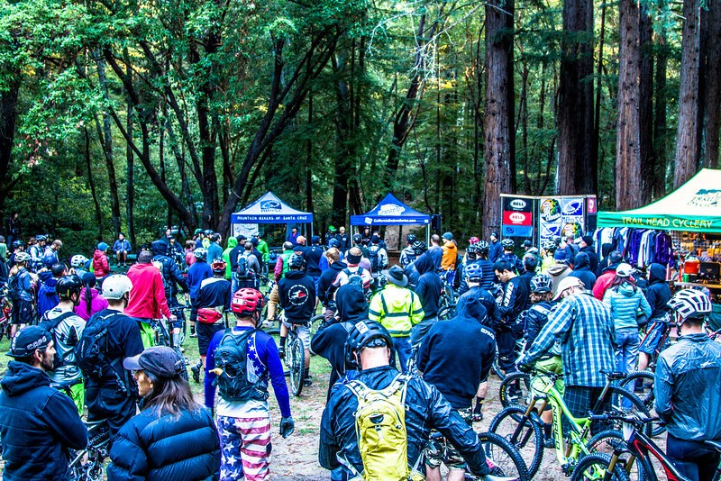 Brisk morning rider meeting at Camp Loma just minutes before the first wave of riders heads out to the start. Photo: Scott McClain, Called to Creation