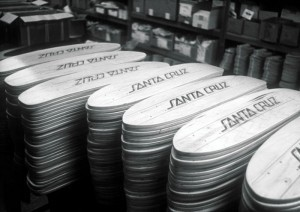 Stacks of Santa Cruz '5-ply' Skateboards 1977