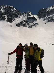 Sarah Kunnen and girlfriends pose with their adventure turns in Silverton, Colorado.  Photo courtesy of Alpenglow Sports