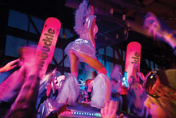 Unbuckle at Heavenly s Tamarack, rated as the No 1 apres ski party in North America by Forbes.  Photo courtesy of Heavenly