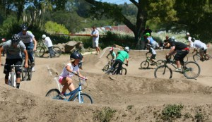Kids enjoying the pump track.  Photo; Richard Masoner