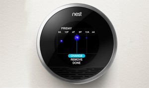 Navigant Research reports that the number of smart thermostats in operation around the world will jump from 1.4 million currently installed to some 32 million by 2020. These kinds of numbers will help utilities meet or exceed energy efficiency goals regardless of other upgrades on their power plants. Photo: The Nest