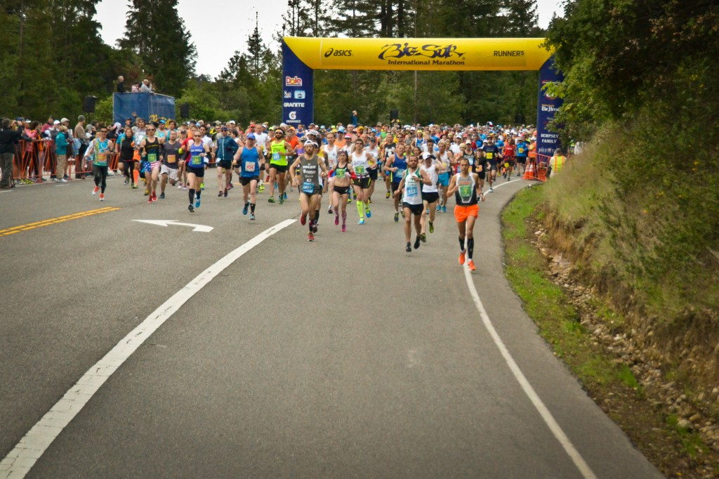 Big Sur Marathon 2014 start. Photo courtesy of BSIM