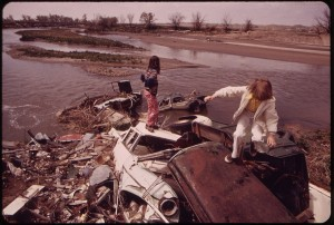 Communities need to be vigilant about plans to site incinerators, landfills, waste transfer stations, sewage treatment plants or other toxic facilities nearby where they might threaten the health of residents. Pictured: Unwitting children play at a local waste dump. Photo: Bruce McAllister