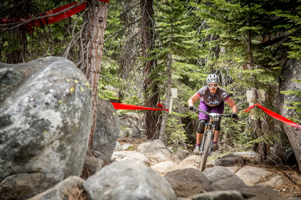 Amy Morrison (Mike's Bikes) crushed the stage 3 tech gnar to a 1st place pro womens win.