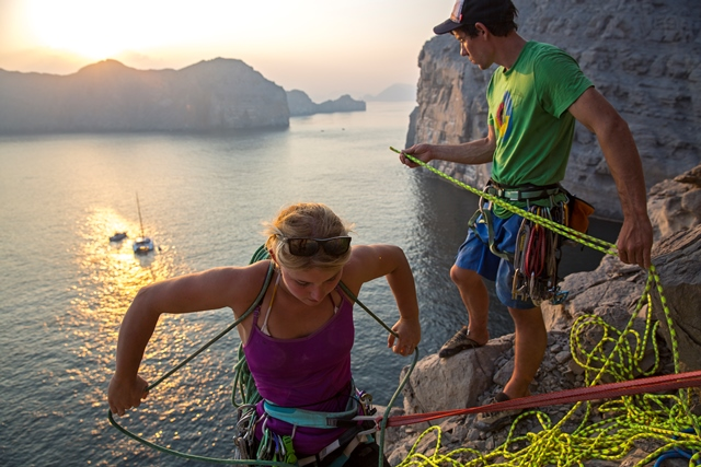 Hazel Findlay from the film Impossible Rock: Climbing Expedition to Oman © Jimmy Chin
