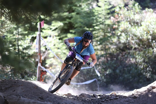 Amy Morrison pinned on the 2014 Northstar Livewire Classic Enduro course.