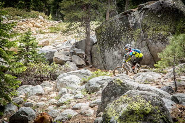 Big mountain venues like China Peak's VP EnduroFest offer all-mountain riding enthusiasts ideal conditions in which to challenge themselves (Called To Creation).