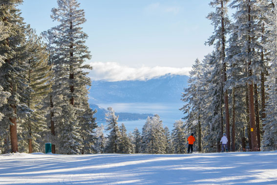 Slopes offer an incredible view of Lake Tahoe.