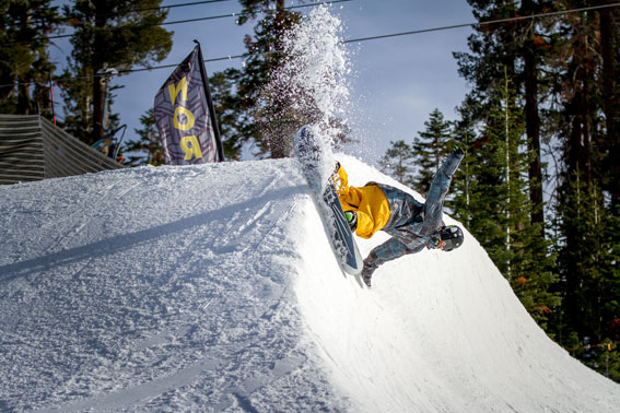 Freshly sculpted halfpipe. Photo: Northstar California Resort