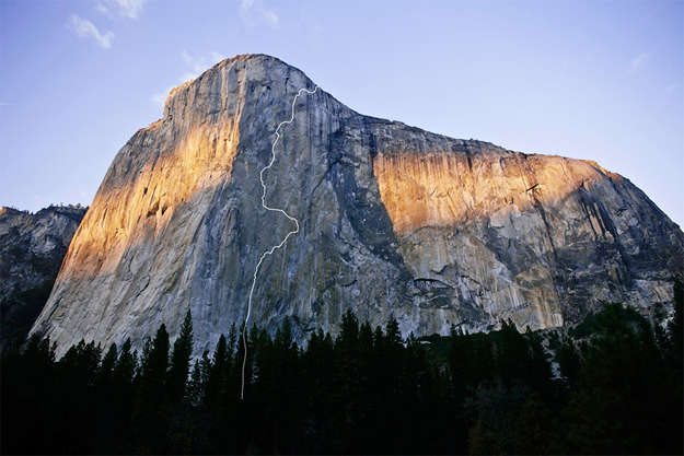 Dawn Wall route. Image courtesy Patagonia.