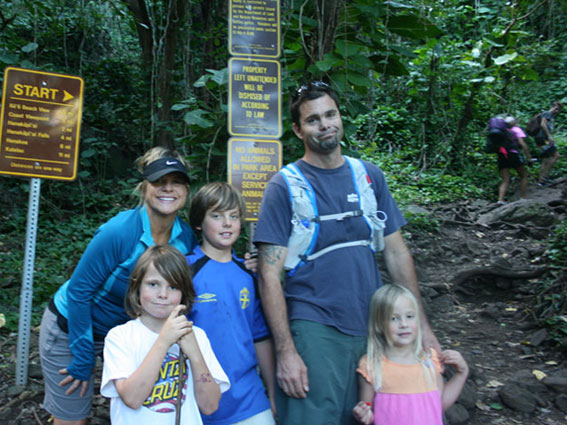 ASJ founders Cathy Claesson and Matt Niswonger with their adventurous brood.
