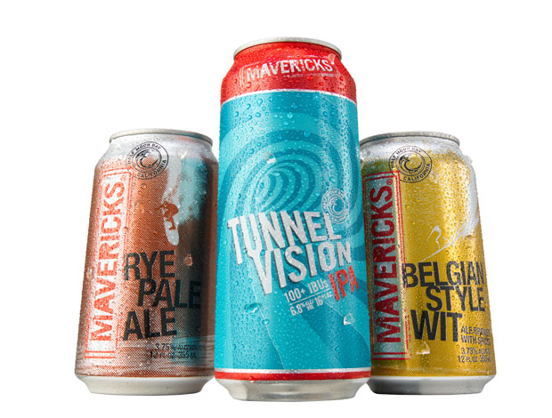 Mavericks Rye Pale Ale, Tunnel Vision IPA and Belgian Style Wit. Photo by Paul Kirchner.