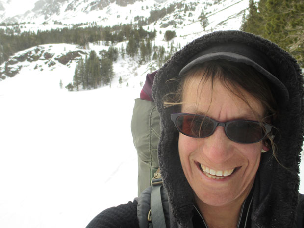 Having the right mindset is important for winter camping alone (Leonie Sherman, selfie).