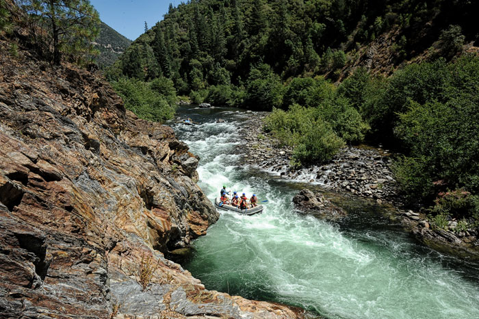 Remote canyon of the  Middle Fork American. Photos: All-Outdoors Whitewater  Rafting Company.