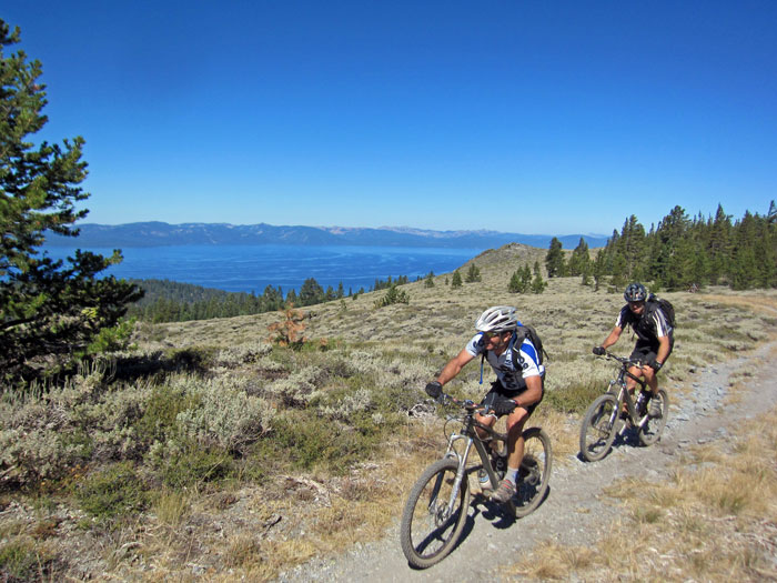 Rose to Toads Ride on the Tahoe Rim Trail near the bench.  Photo by Ben Fish
