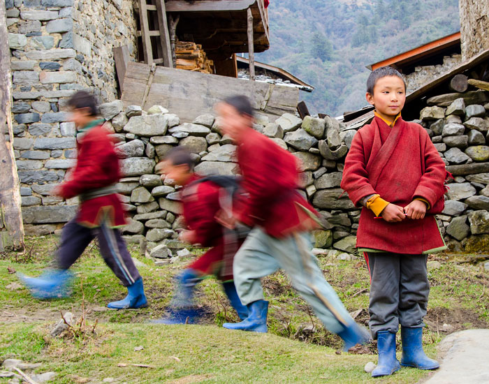 Boys of Sakteng, Bhutan. Photo: Terri Schneider