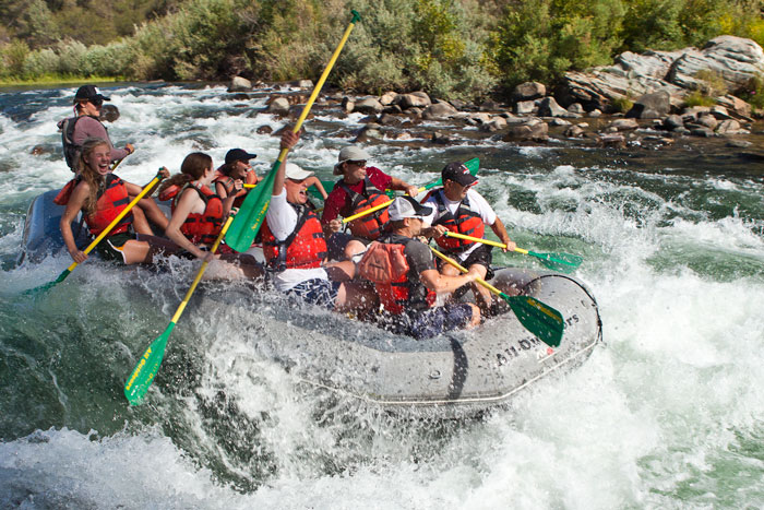 Rafters enjoy the thrill of Class II-III Rapids on the South Fork American. Photos: All-Outdoors Whitewater Rafting Company