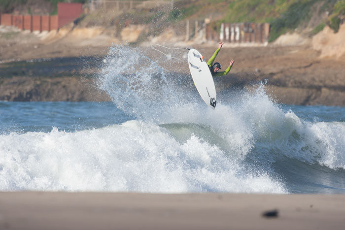 Big frontside air in Santa Cruz. Photo by Nelly