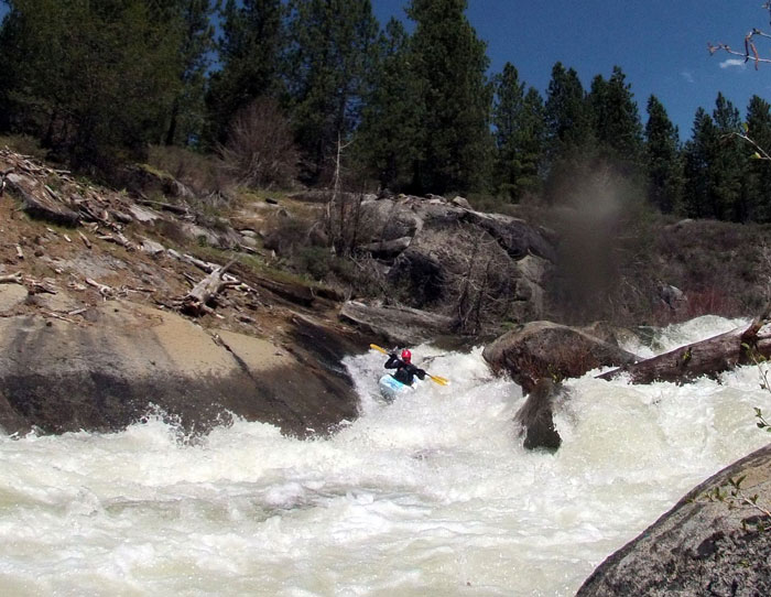 Haven Livingston enjoys sweet Sierra whitewater. (Phil Boyer)