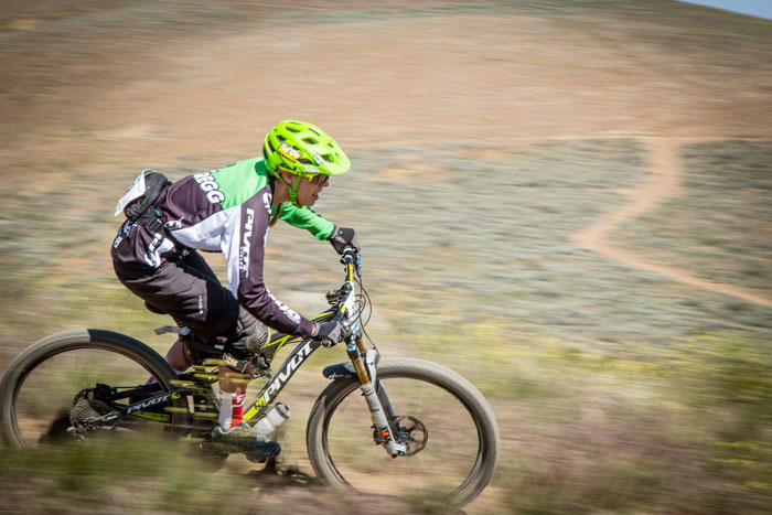 Lauren giving it all she's got at Round 1 of the 2015 California Enduro Series – Battle Born Enduro. Photo by Called To Creation.