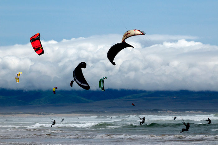 There are great places to kitesurf along SLO's coast (Visit SLO).