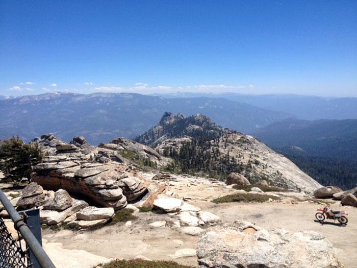 View from Sierra Shuteye Lookout Tower. Bird's eye view of the Sierra range!