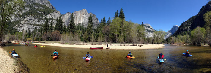 Paddlers on the Merced (Phil Boyer).