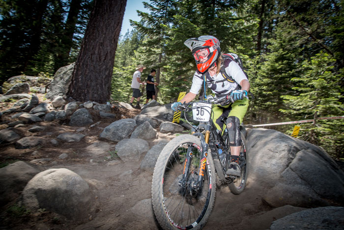 Margaret Gregory picked a smooth line in the Garden and finished first overall in Pro Women.