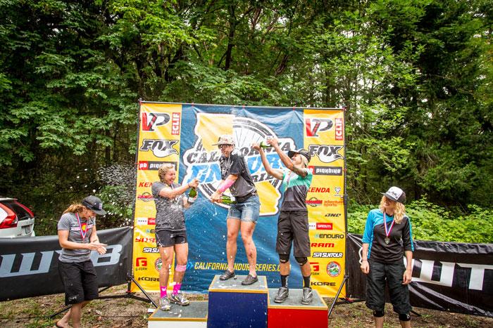Pro women's podium.