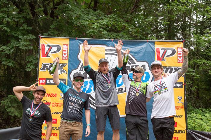 Pro men's podium.
