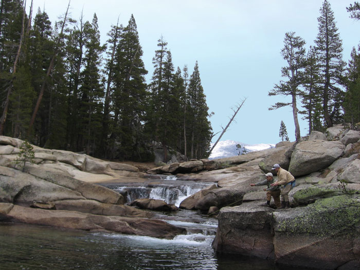 Guided high country fishing. Photo: Evergreen Lodge.