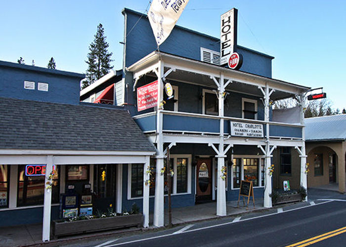 Hotel Charlotte invites visitors to experience the ambiance of an Old West historic hotel.