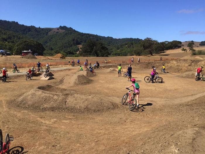 Phase 1's pump track is suitable for all abilities. Phase 2 will include intermediate and advanced pump tracks.
