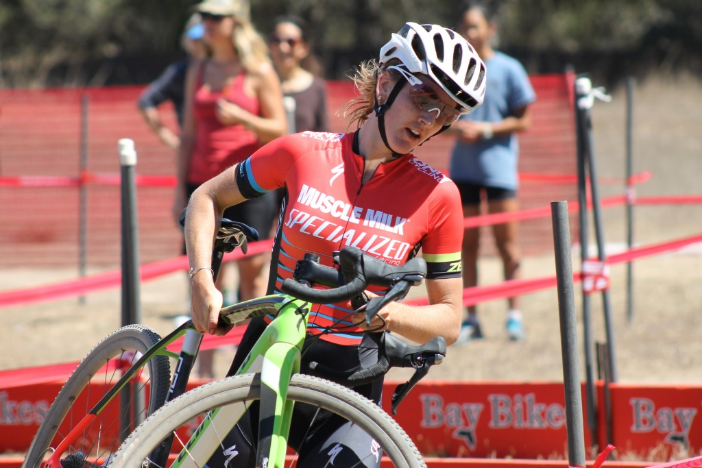 Caro Gomez Villafane at the CCCX Cyclo-Cross race at Fort Ord. Photo: Justin Beck