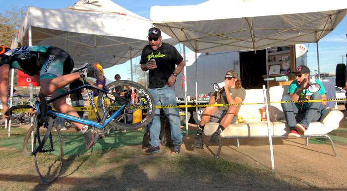 What's cross without a bit of heckling? Photo: Jeff Namba
