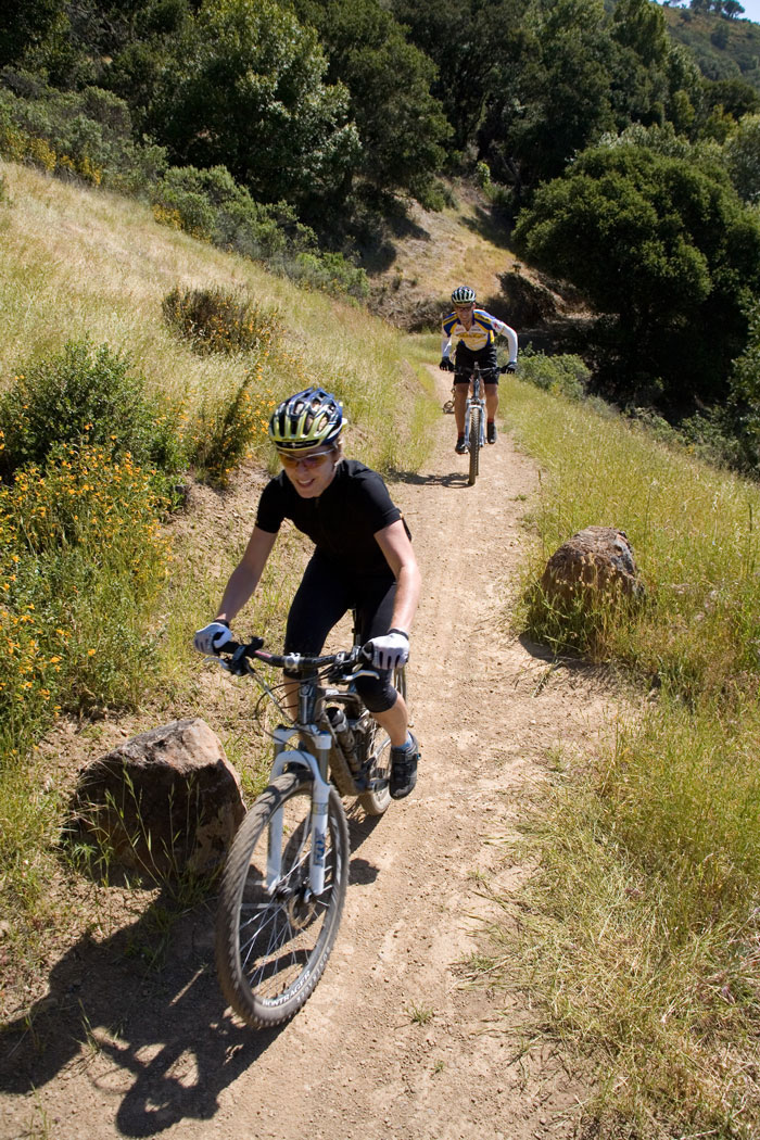 """Rider back"" on 680 Trail in Marin. Photo courtesy  Marin County Bicycle Coalition"