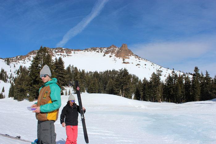 Skiing Lassen