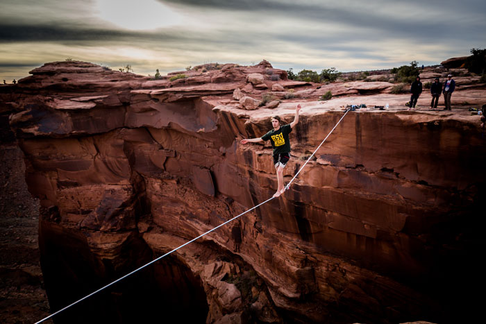 Peter Duin taking his time in Moab, UT. Photo: Larry Duin